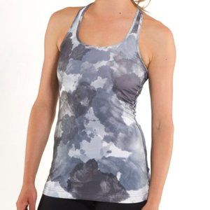 Lululemon Cool Racerback White Coal Tinted Canvas